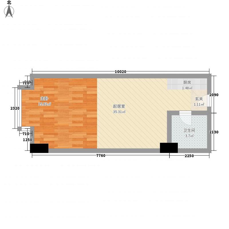 金世界55.00㎡6号公寓1面积5500m户型