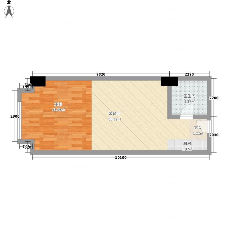 金世界56.00㎡6号公寓1面积5600m户型