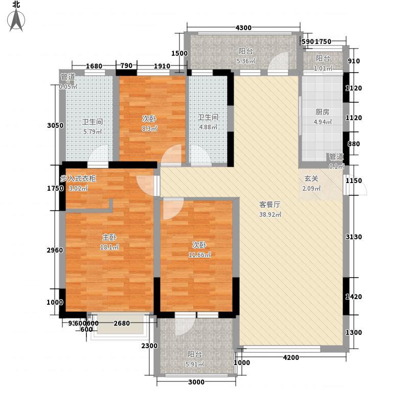 U-WORLD优品天地118.57㎡U-WORLD优品天地户型图U-19户型3室2厅2卫1厨户型3室2厅2卫1厨
