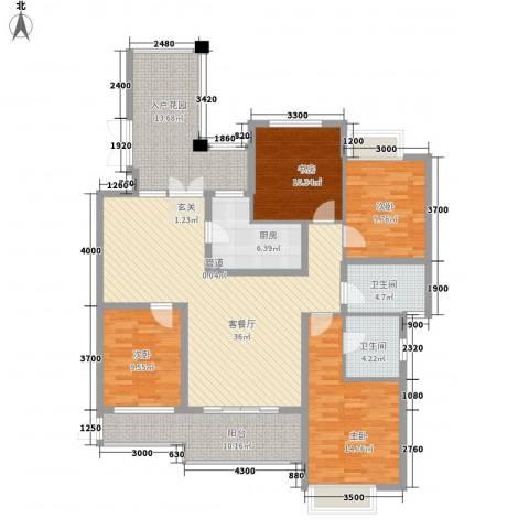 莲花新村4室1厅2卫1厨119.59㎡户型图