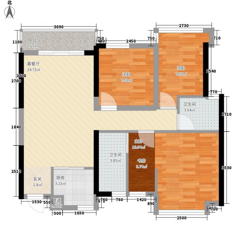 盛天领域A5户型4室2厅2卫