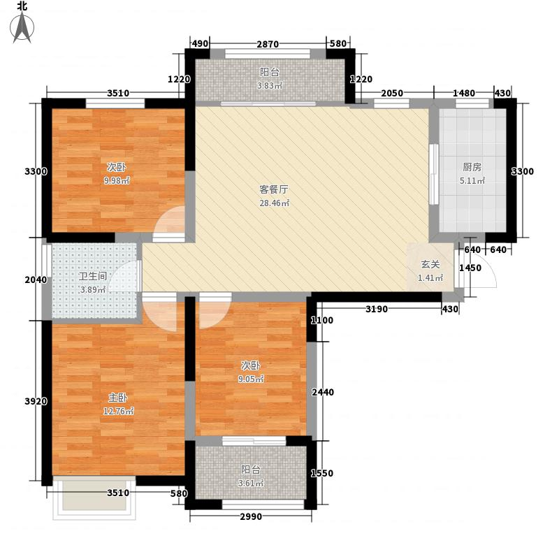 海尚花园海尚花园户型图三室一厅一卫1户型10室