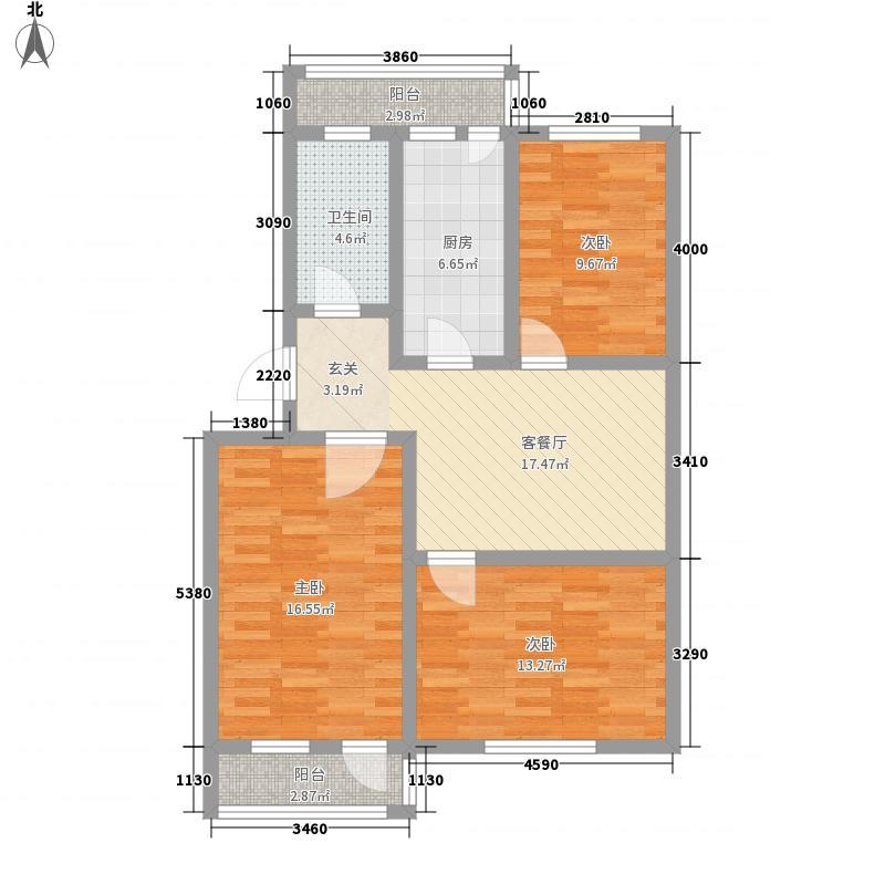 普利永庆街1号108.44㎡普利永庆街1号户型图户型a3室1厅1卫户型3室1厅1卫