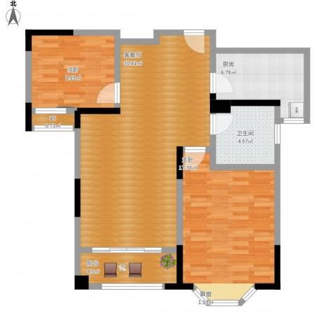 永新秀郡2室1厅1卫1厨106.00㎡户型图