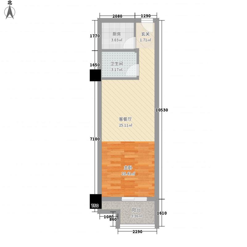 冠亚广场冠亚广场户型图1室1厅1卫1厨户型10室