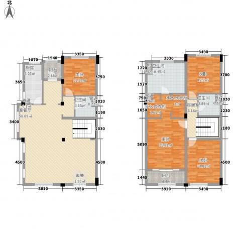 绿城玉兰花园・臻园4室1厅3卫1厨227.00㎡户型图