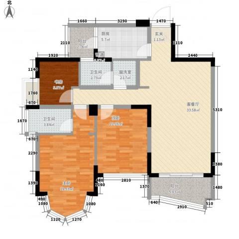 泊岸花园3室1厅2卫1厨300.00㎡户型图