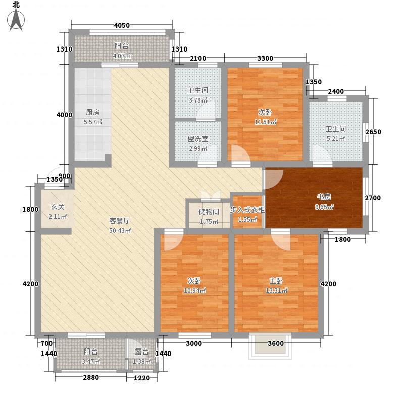 宏发国际名城155.19㎡宏发国际名城户型图4室2厅2卫户型10室