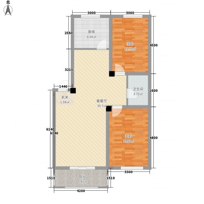 宏发国际名城102.40㎡宏发国际名城户型图2室2厅1卫户型10室