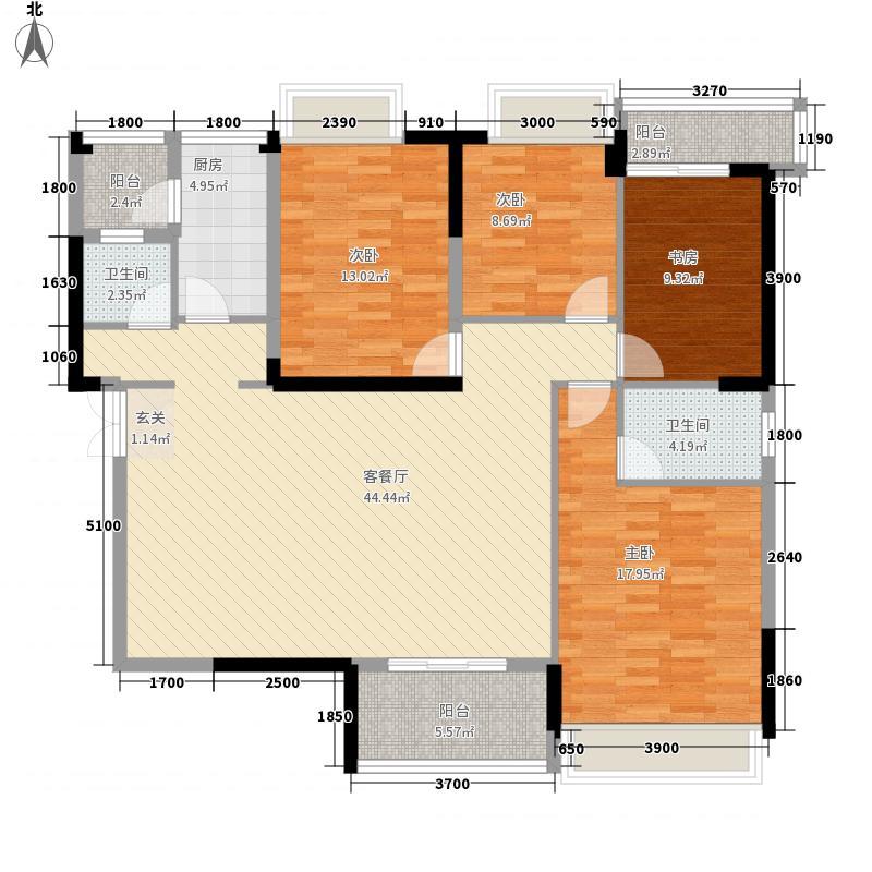 顶�晶城150.00㎡顶�晶城户型图k4室2厅2卫户型4室2厅2卫