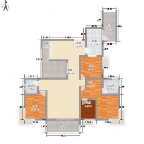 海峡国际社区4室1厅2卫1厨181.00㎡户型图