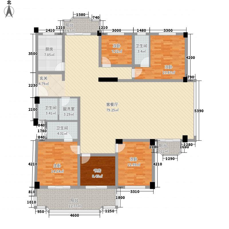 航天花园三期户型图(已售完) 5室2厅3卫1厨