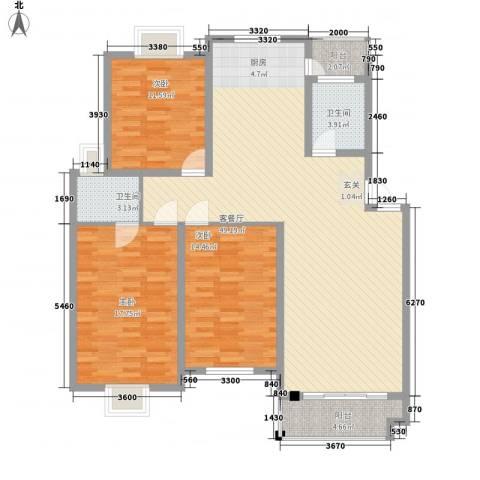 中江嘉荷苑3室1厅2卫0厨150.00㎡户型图