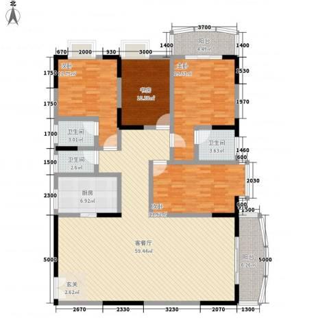 翡翠名都4室1厅3卫1厨176.00㎡户型图