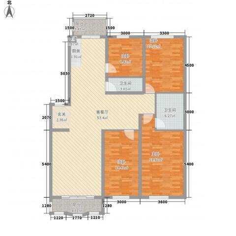 圣淘沙家园4室1厅2卫0厨158.00㎡户型图