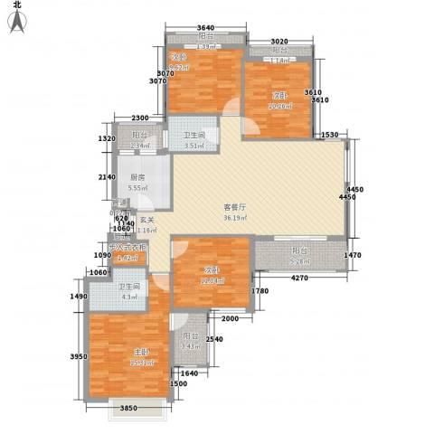 威尼斯水城别墅4室1厅2卫1厨157.00㎡户型图
