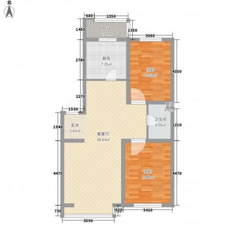 金杯住宅2室1厅1卫1厨108.00㎡户型图
