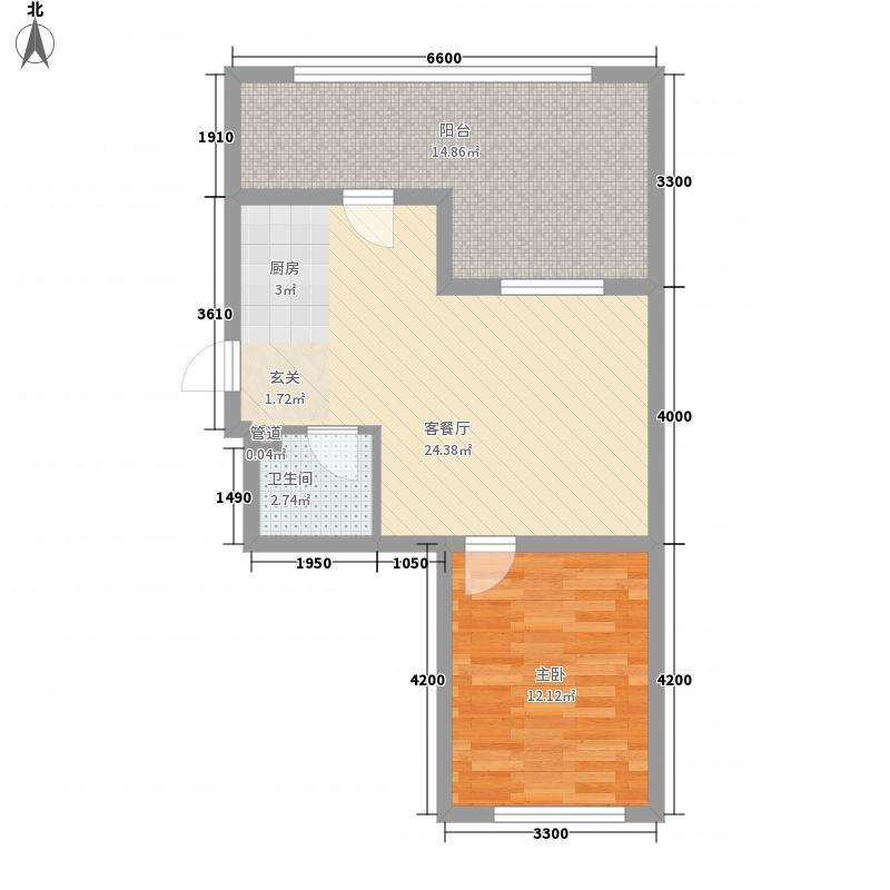 开建康都46.59㎡开建康都户型图1室2厅1卫户型10室