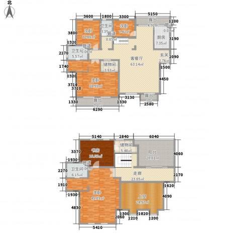 保利花园三期双河城5室1厅3卫1厨289.45㎡户型图