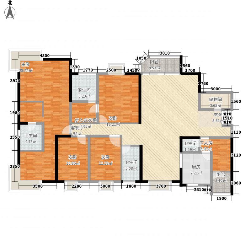陶然豪园 5室2厅 户型图