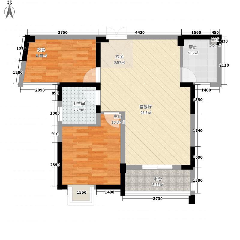 菩提苑83.00㎡菩提苑户型图A-2户型2室2厅1卫1厨户型2室2厅1卫1厨