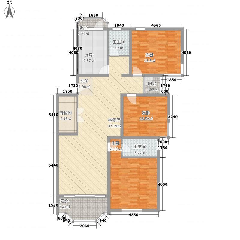 龙臣公寓142.00㎡上海户型3室1厅2卫1厨