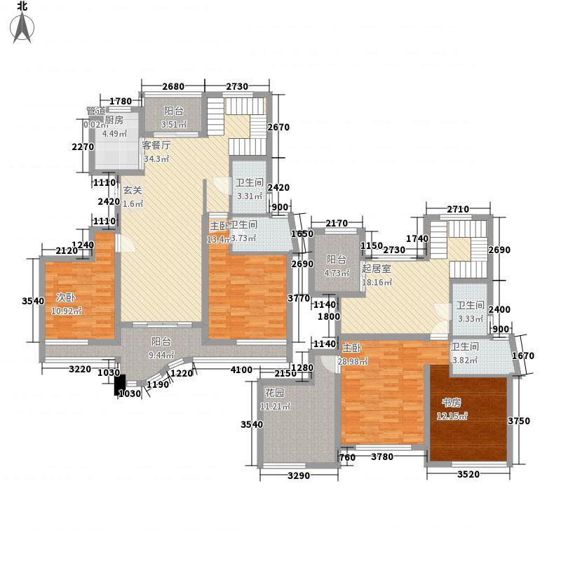 国际冠城223.00㎡39号楼和43号楼复式B户型4室3厅4卫1厨