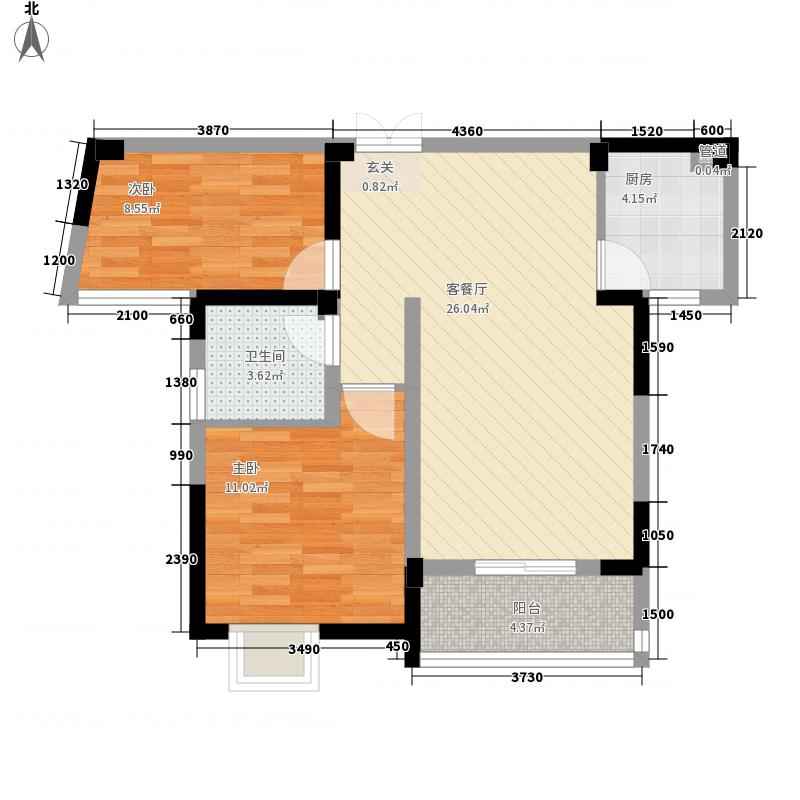 菩提苑83.42㎡菩提苑户型图A-2户型2室2厅1卫1厨户型2室2厅1卫1厨