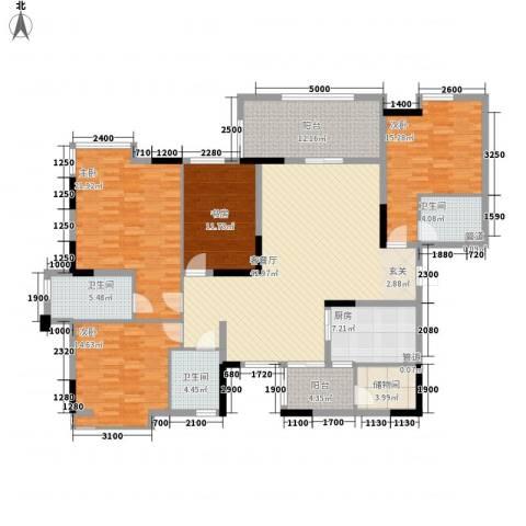 泰安楼4室1厅3卫1厨209.00㎡户型图