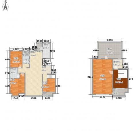 亿利傲东国际5室1厅2卫1厨220.01㎡户型图