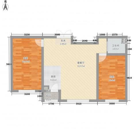 福苑2室1厅1卫0厨87.00㎡户型图
