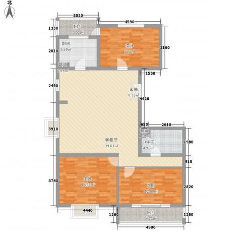 太嘉小区3室1厅1卫1厨140.00㎡户型图