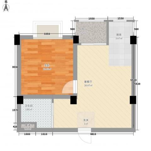 风顺里二期1室1厅1卫0厨51.00㎡户型图