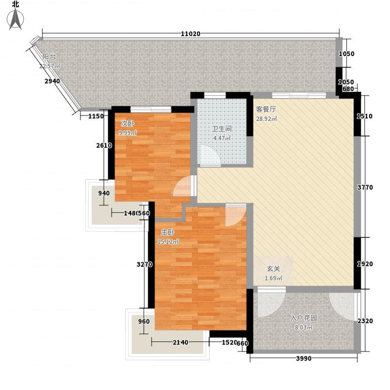 仙徕乐园两居室2户型2室1厅1卫1厨