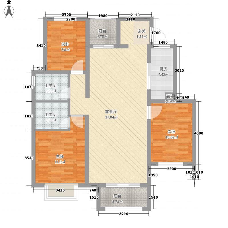 豪情花园123.00㎡322123户型3室2厅2卫