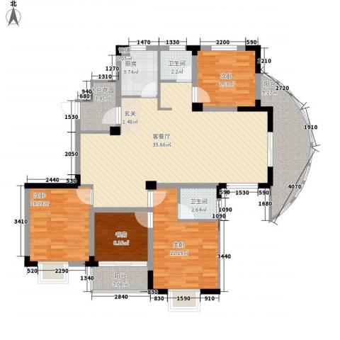 巴黎春天4室1厅2卫1厨138.00㎡户型图