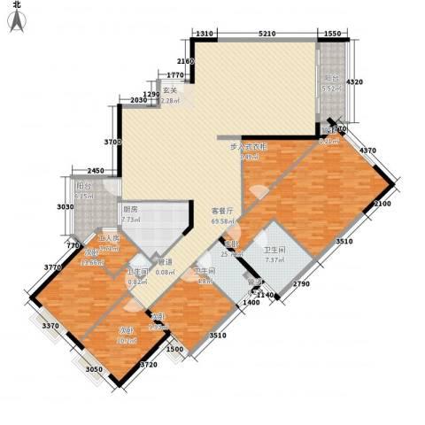 华标涛景湾4室1厅3卫1厨215.00㎡户型图
