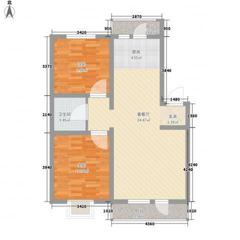 阳光美地2室1厅1卫0厨95.00㎡户型图