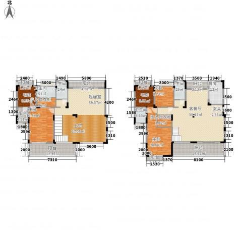 太阳湾4室1厅4卫1厨253.19㎡户型图