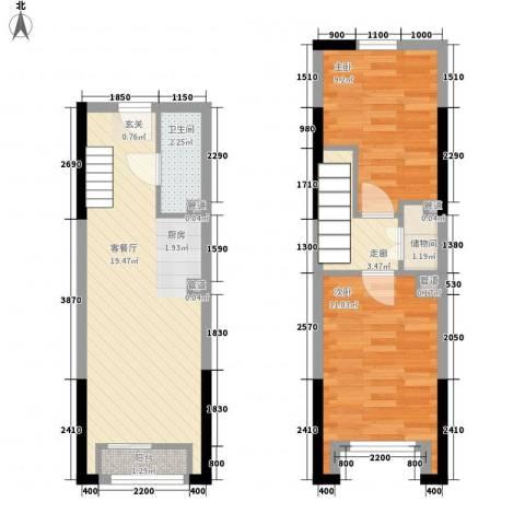 筑石快乐公馆2室1厅1卫0厨48.19㎡户型图