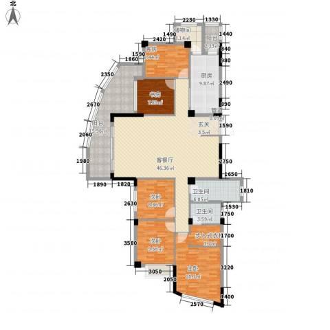 东方假日城4室1厅2卫1厨199.00㎡户型图
