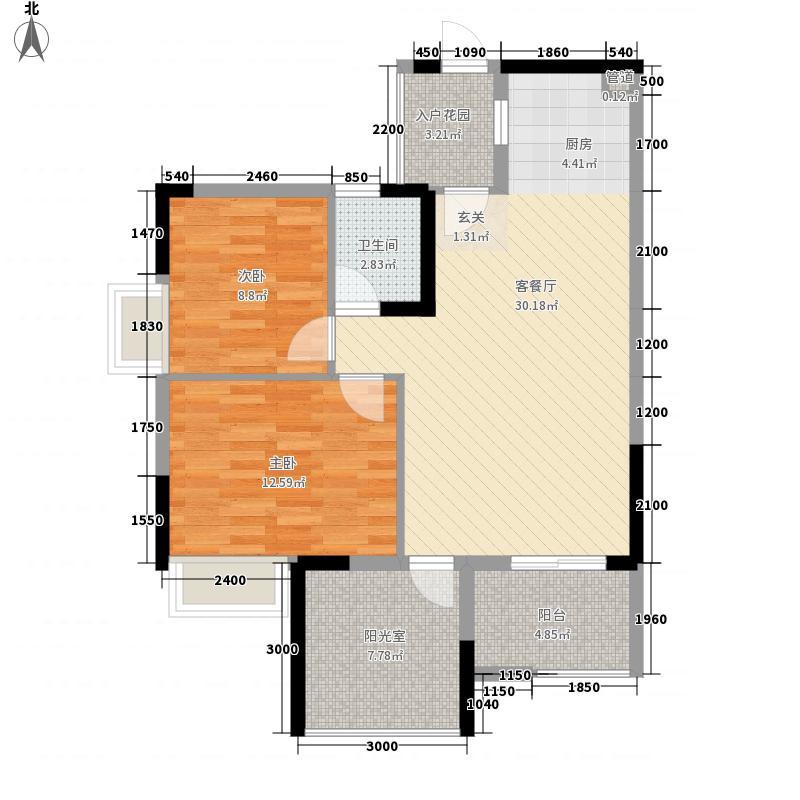 汇东郦城2.00㎡户型3室2厅