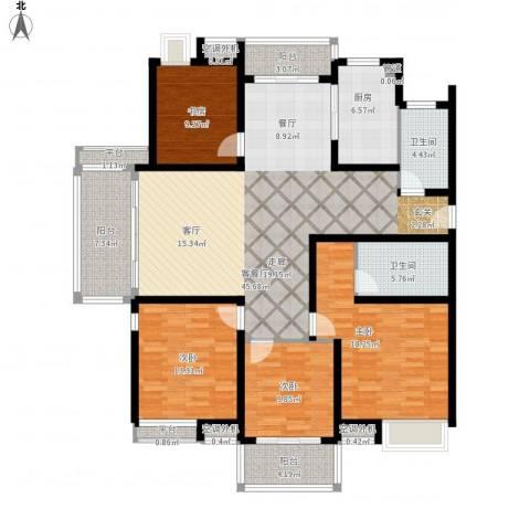 东海未名园4室1厅2卫1厨190.00㎡户型图