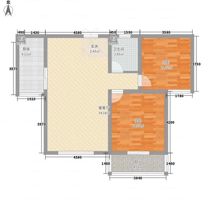 和信花园106.60㎡和信花园户型图J户型2室2厅1卫1厨户型2室2厅1卫1厨