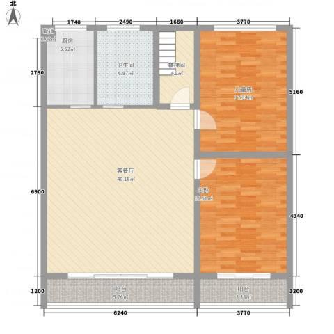 东升苑2室1厅1卫1厨141.00㎡户型图