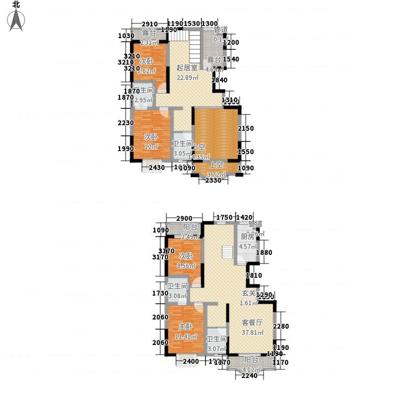 银隆开元名郡218.71㎡五期26#27#楼E户型4室3厅3卫1厨