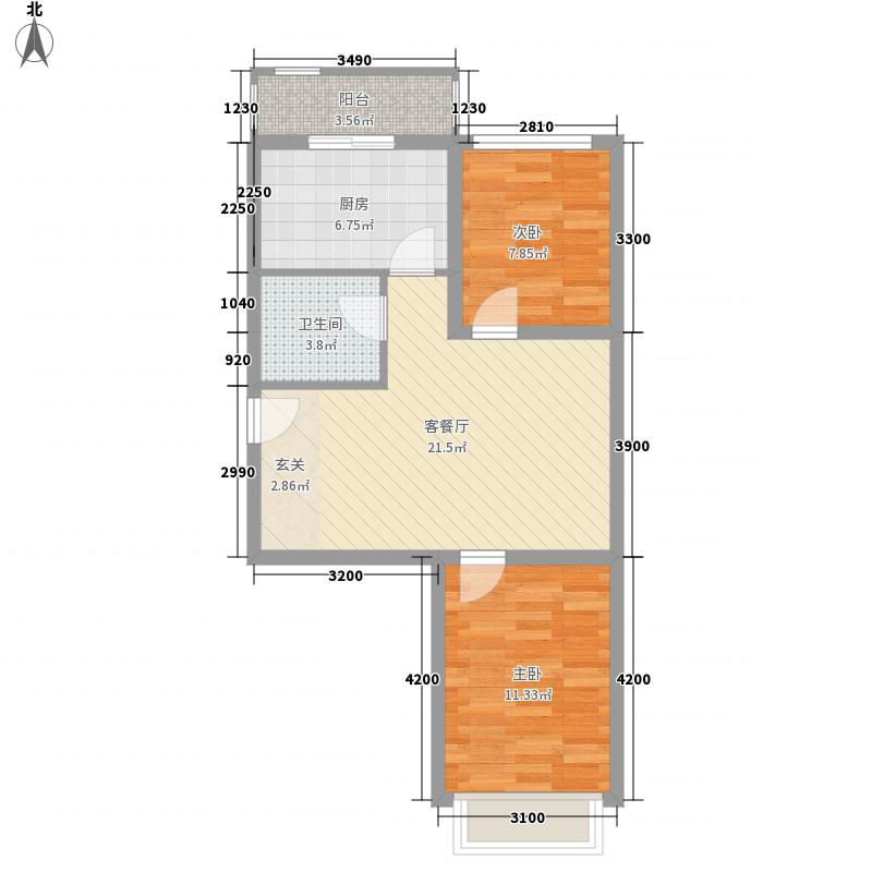 开建康都74.38㎡开建康都户型图2室1厅1卫户型10室