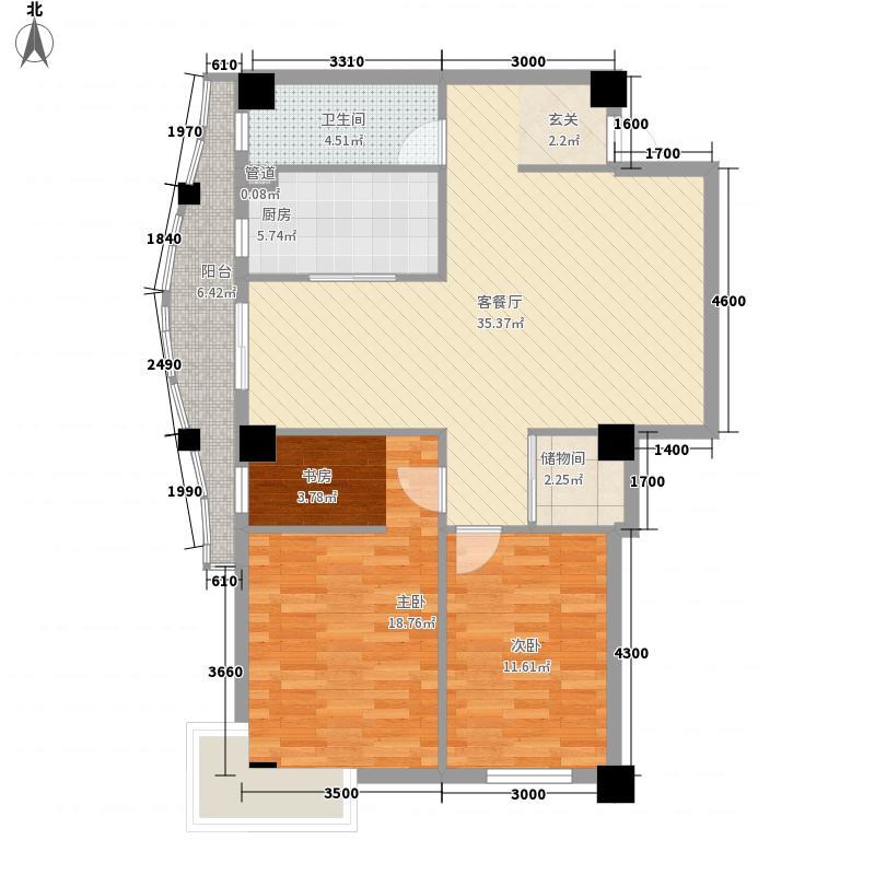丹青花园户型图户型2 3室2厅1卫1厨
