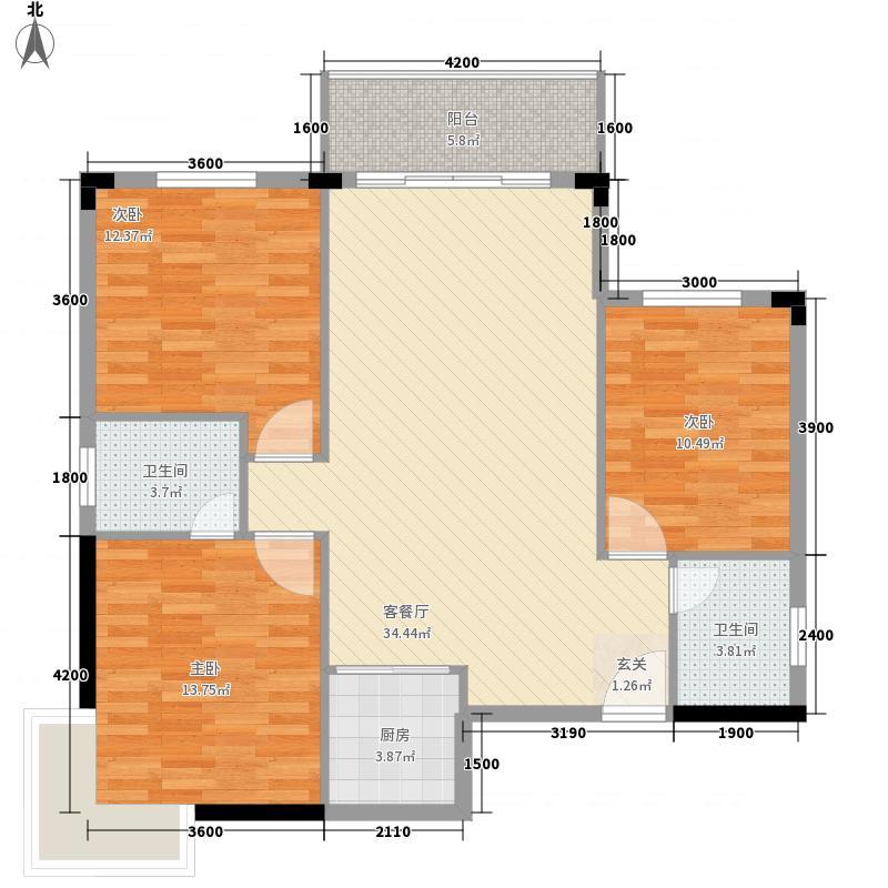 逸泉花园户型3室