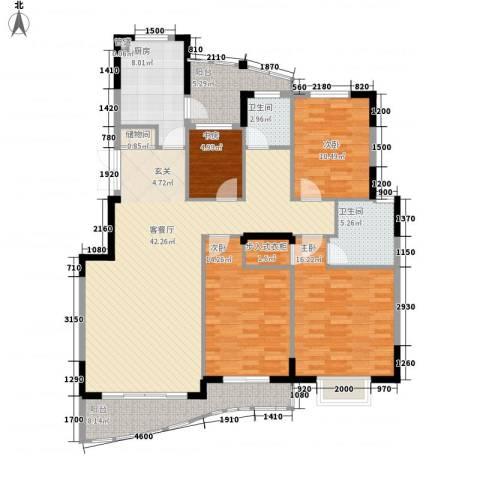 丹青花园4室1厅2卫1厨145.00㎡户型图